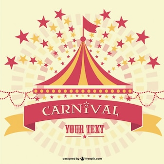 Carnival marquee background template