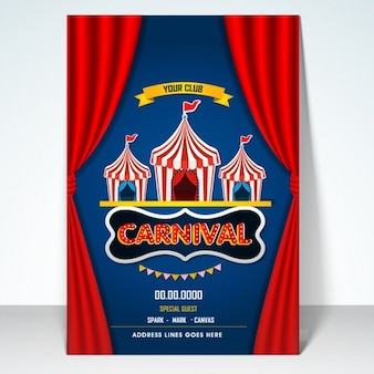 Carnival party poster design