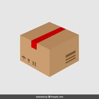 Carton in flat design