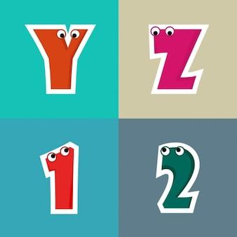Cartoon alphabet