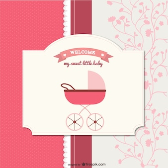 Cartoon baby card    vector