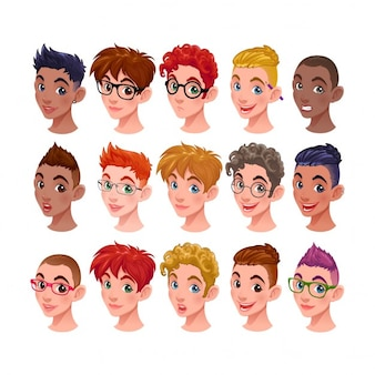 Cartoon characters heads