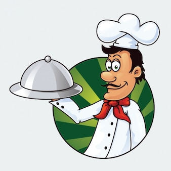 Cartoon chef character vector illustration