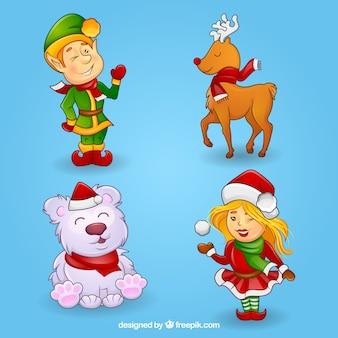 Cartoon christmas characters