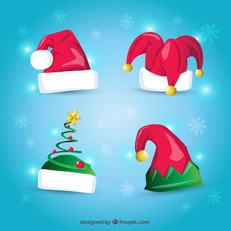 Cartoon christmas hats
