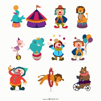 cartoon circus   vector