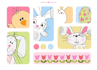 Cartoon Easter characters