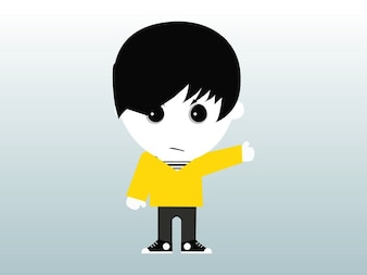 cartoon Emotion boy vector pack