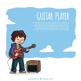 Cartoon guitarist background
