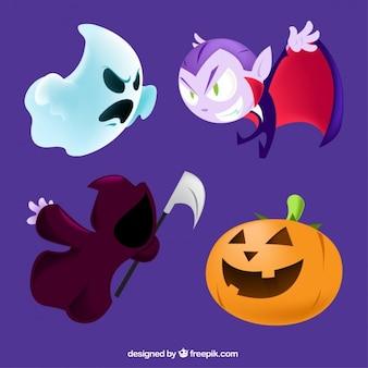Cartoon halloweeen characters