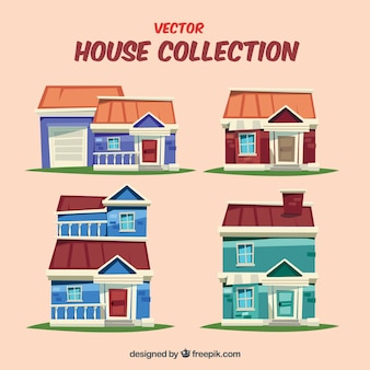 Cartoon houses collection