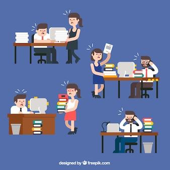 Cartoon office desktops