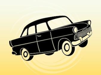 Cartoon passenger car travel vector