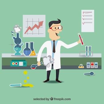 Cartoon scientific