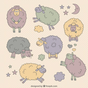 Cartoon sheeps