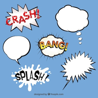 Cartoon speech bubbles collection