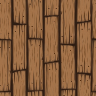 Cartoon style wooden slats