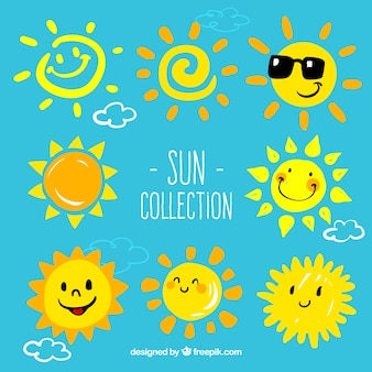 Cartoon suns collection