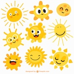 Cartoon suns