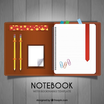 Case with schedule and pencils