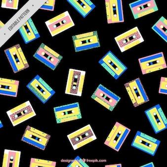 Casettes seamless pattern
