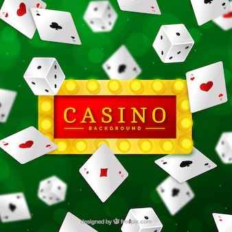 Casino background with cards design