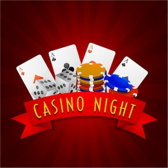 Casino background with different games