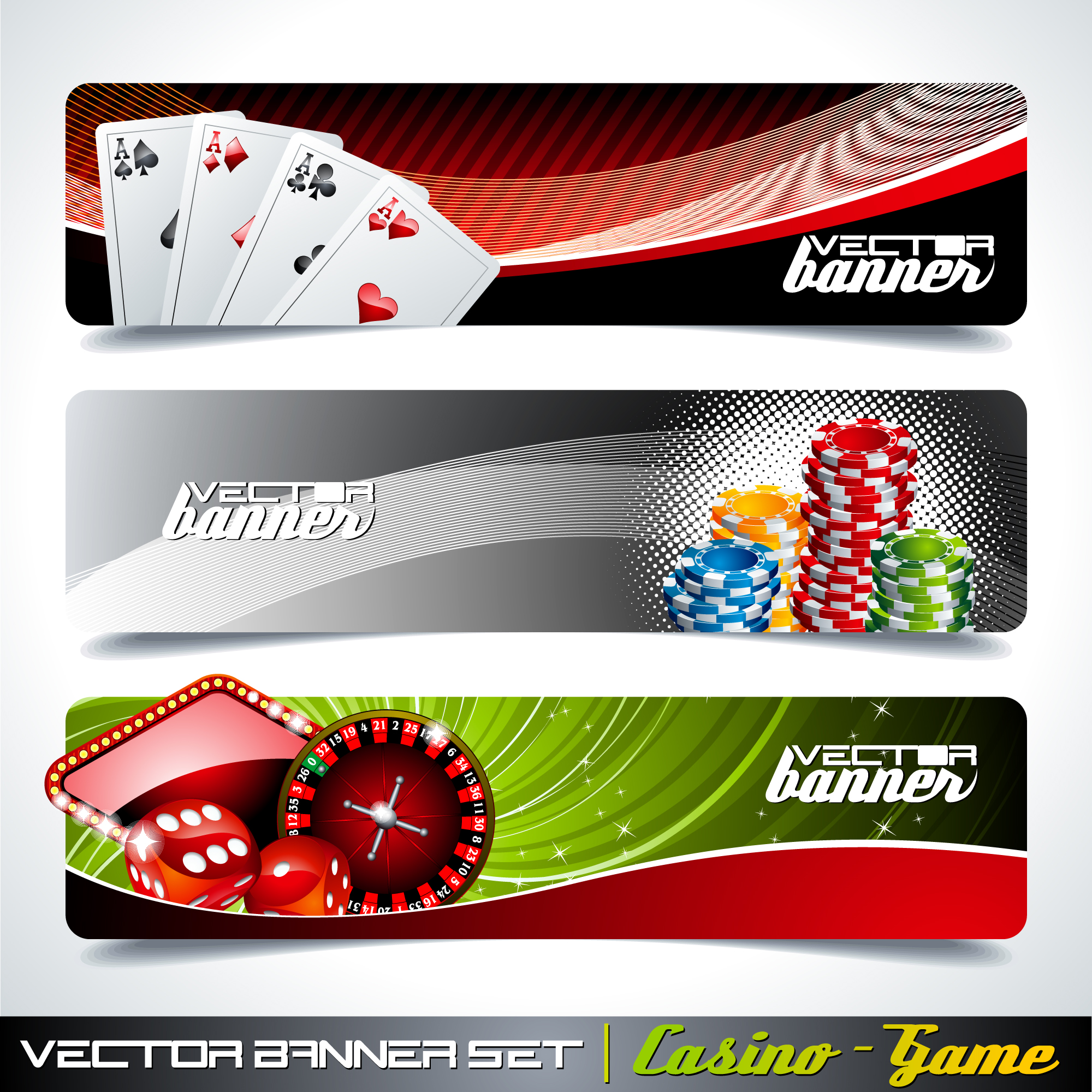 Casino banners collection