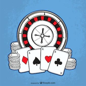 Casino drawing vector
