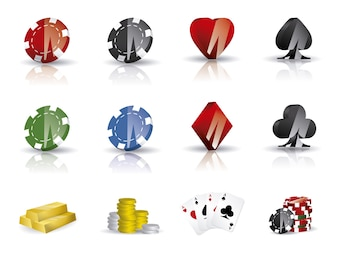 Casino icons collection