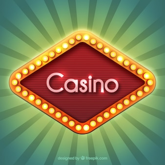 Casino sign with lights
