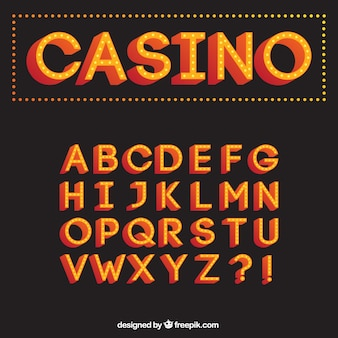 Casino typography