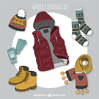 Casual winter clothes collection