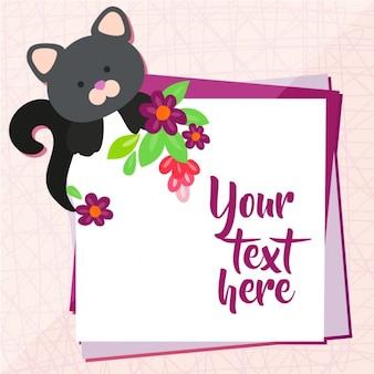 Cat background design