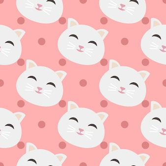 Cats pattern background