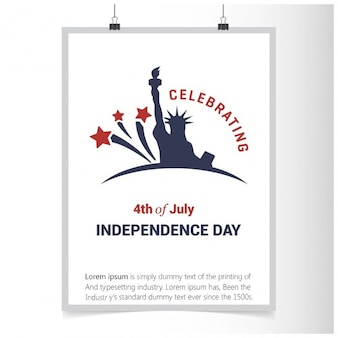 Celebrating poster of 4th of july independence day