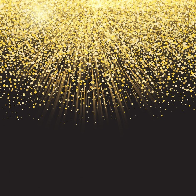 Celebration background with golden confetti