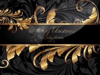 Celebration gold template ornament mirror