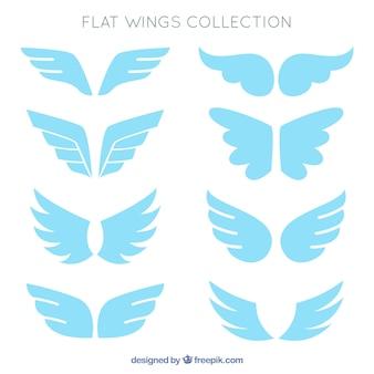 フラットデザインの天体の翼