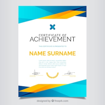 Certificate of achievement, full color