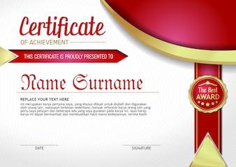 Certificate of Achievement - 1.2 Red Shape Award