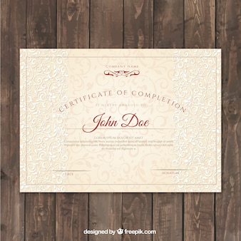 Certificate of achievement with elegant ornaments