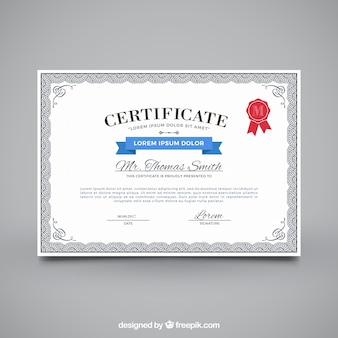 Certificate of appreciation with ornamental frame