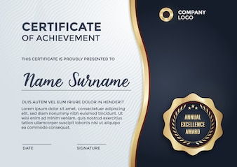 Certificate template design