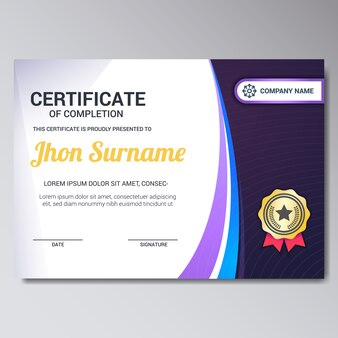 purple certificate template - deluxe vectors photos and psd files free download