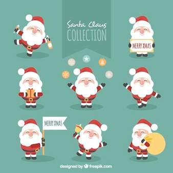 Character collection of happy santa claus
