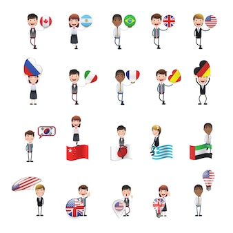 Character with flags collection