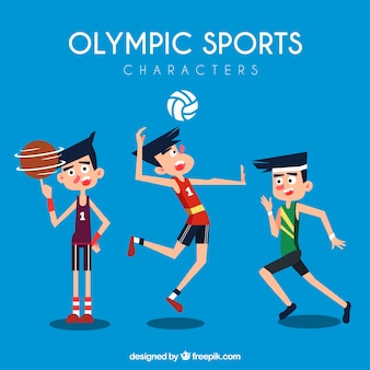 Characters in the olympic games