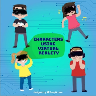 Characters usign virtual reality