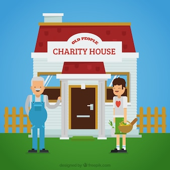 Charity house background